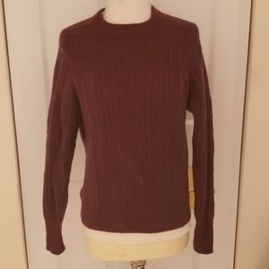 Lord and Taylor Lambswool Marrone Red Sweater